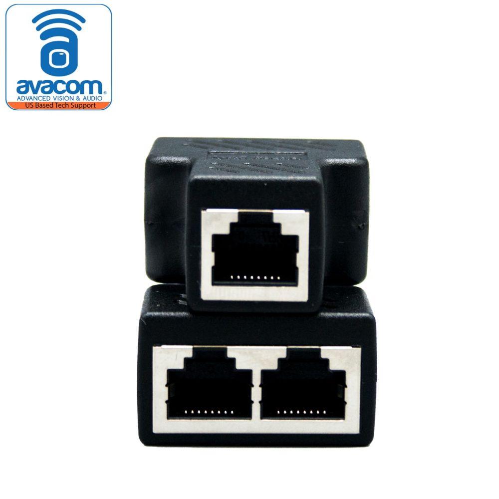 Rj45 Splitter Adapter Female Socket Interface Ethernet Cable 8p8c Coupler