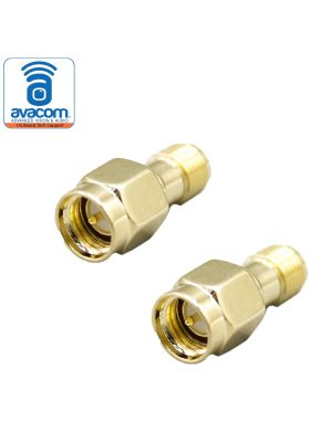 RP-SMA Female to SMA Male Coax Adapter | 2 Pieces of Gold Plated Coaxial Coupling Nut Connectors