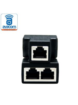 RJ45 Splitter Adapter, Female Socket Interface, Ethernet Cable 8P8C Coupler